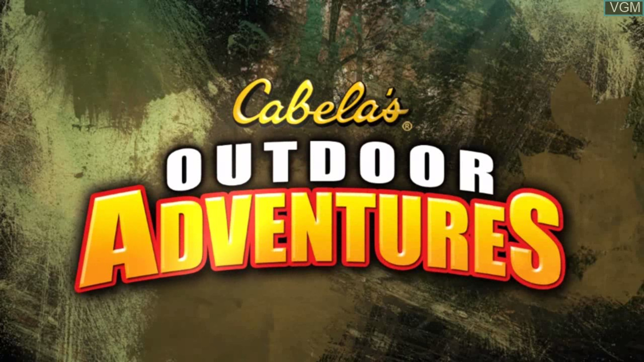 Title screen of the game Cabela's Outdoor Adventures on Sony Playstation 3