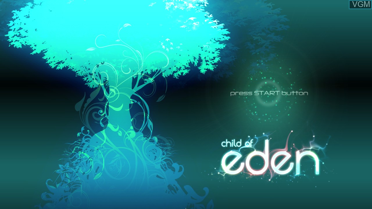 Title screen of the game Child of Eden on Sony Playstation 3