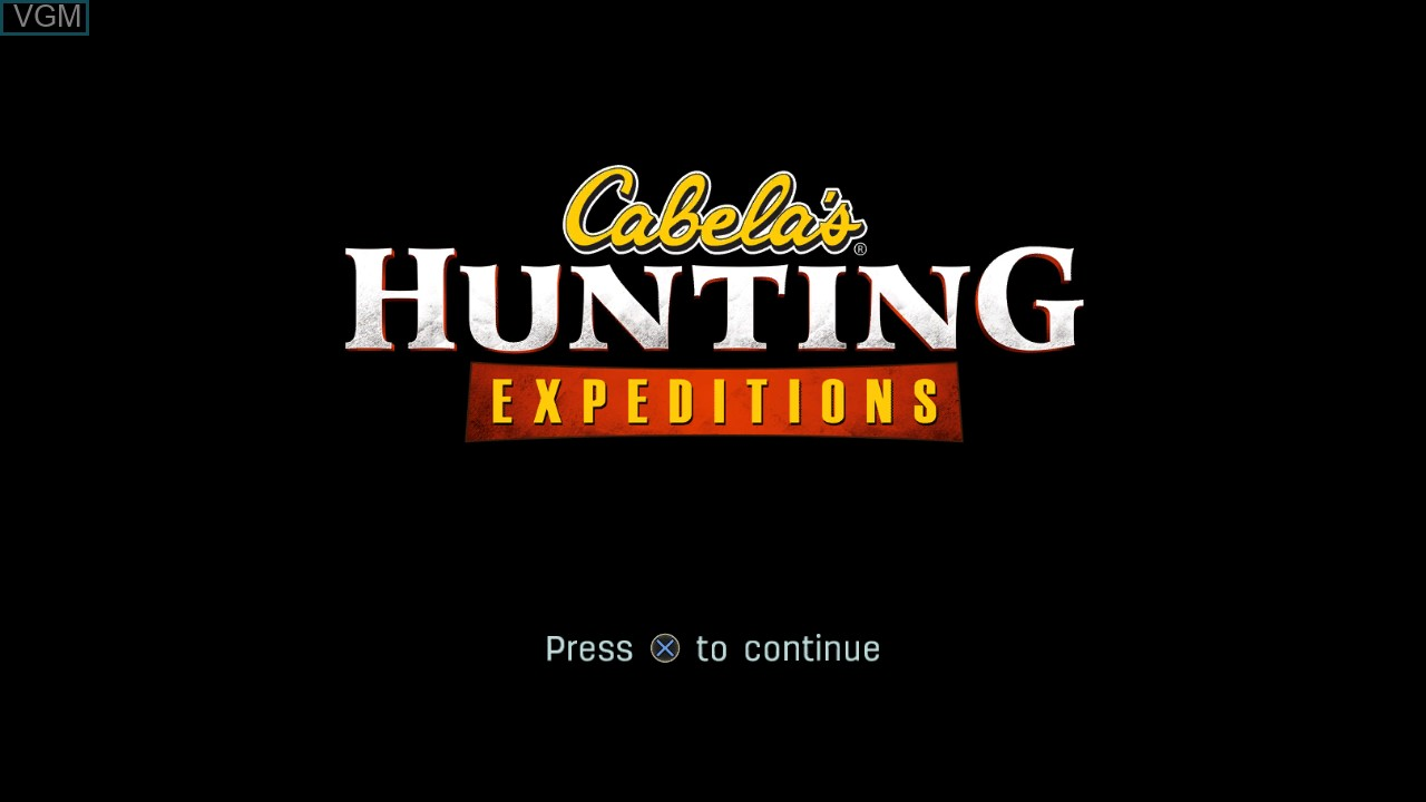 Title screen of the game Cabela's Hunting Expeditions on Sony Playstation 3