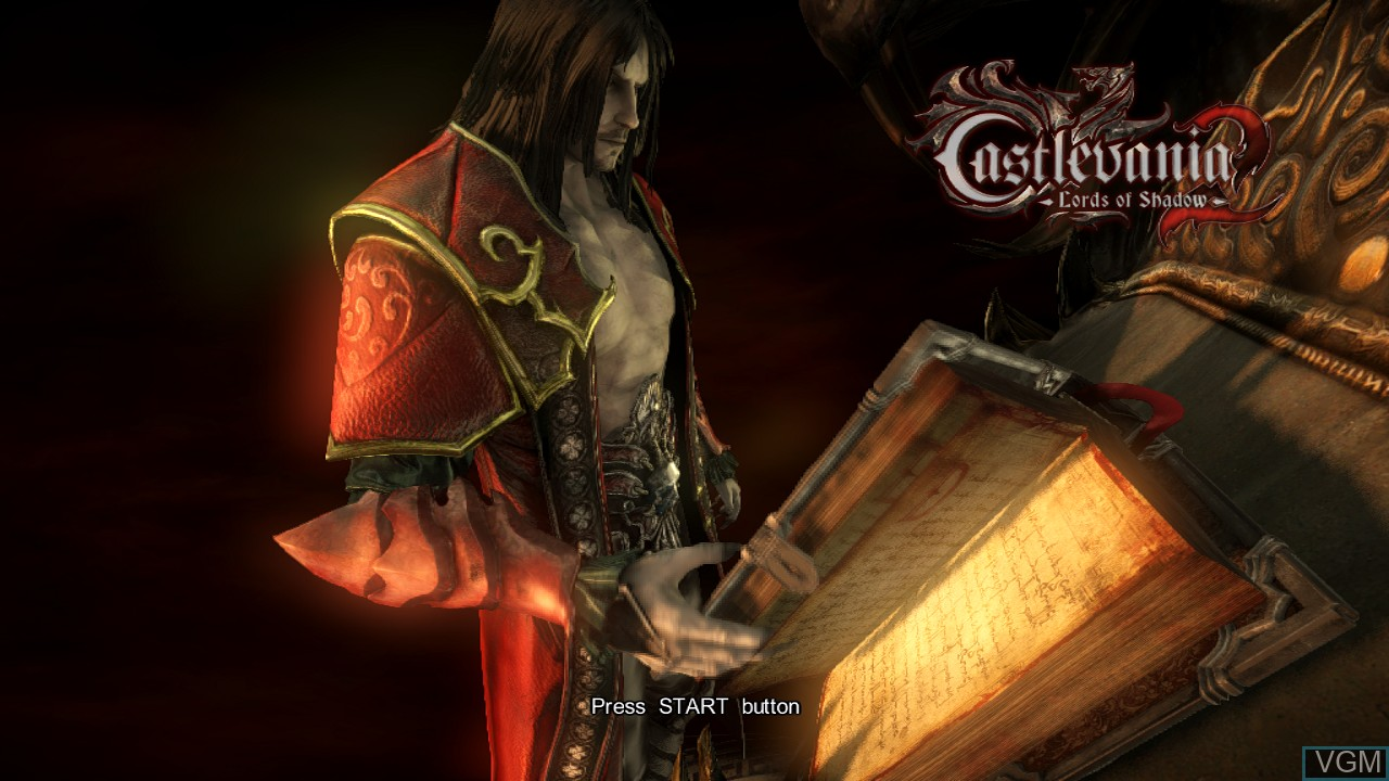 Title screen of the game Castlevania - Lords of Shadow 2 on Sony Playstation 3