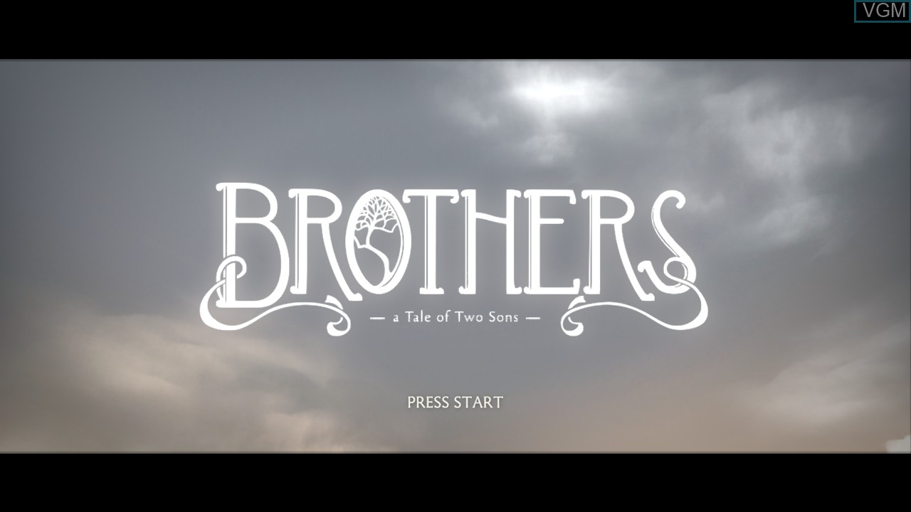 Title screen of the game Brothers - A Tale of Two Sons on Sony Playstation 3