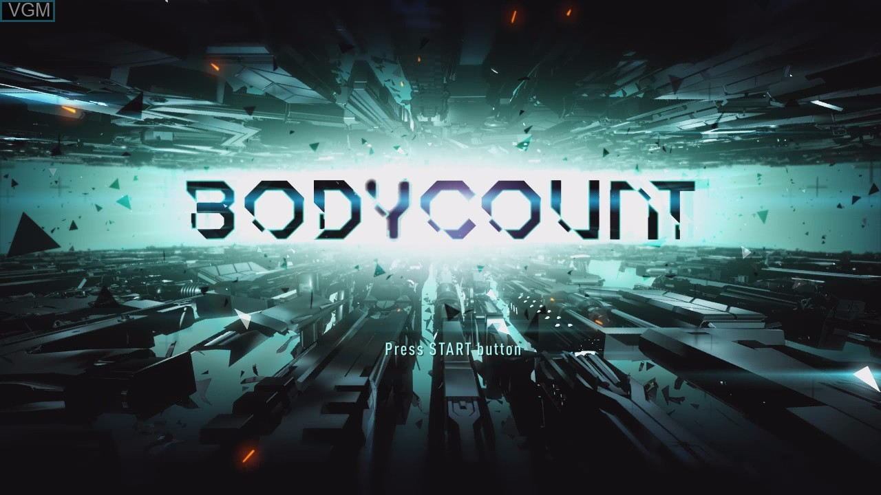 Title screen of the game Bodycount on Sony Playstation 3