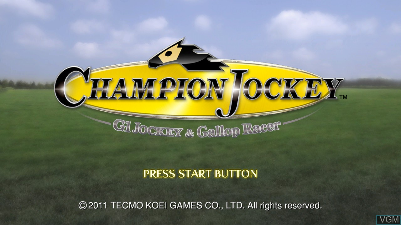 Title screen of the game Champion Jockey - G1 Jockey & Gallop Racer on Sony Playstation 3