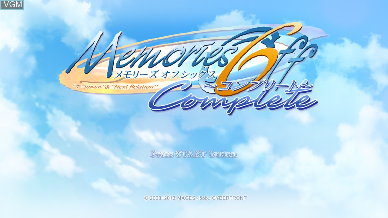 Title screen of the game Memories Off 6 Complete on Sony Playstation 3