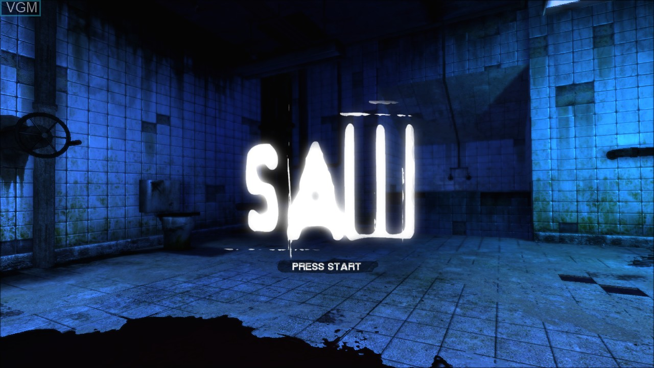 Title screen of the game Saw on Sony Playstation 3