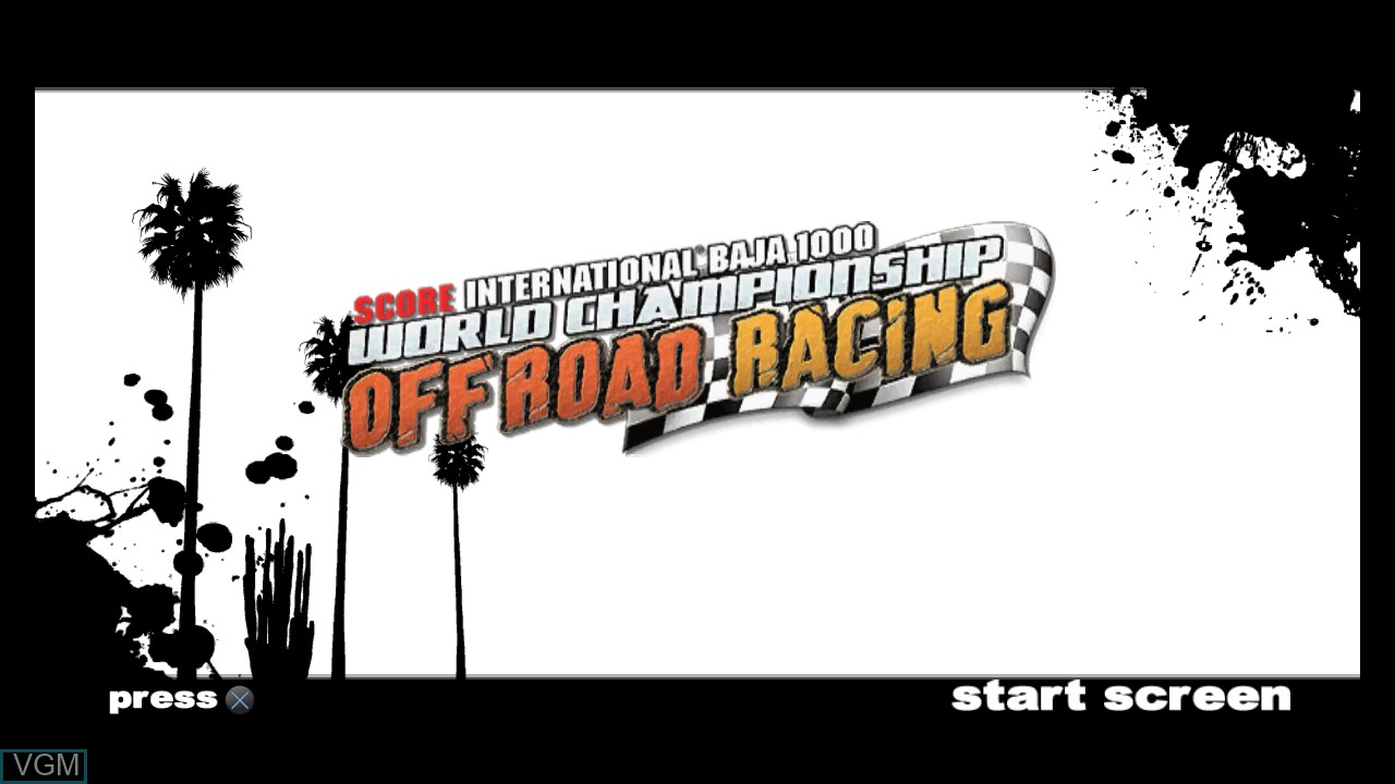 Title screen of the game SCORE International Baja 1000 - World Championship Off Road Racing on Sony Playstation 3