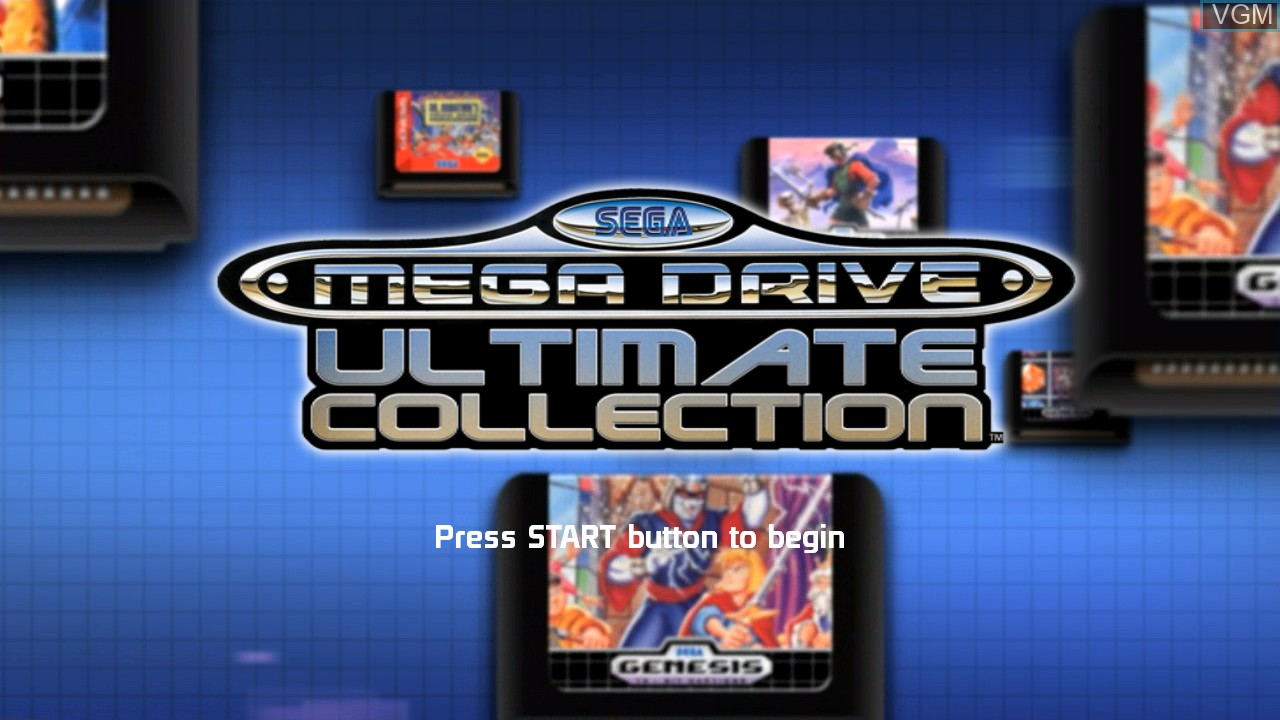 Title screen of the game SEGA Mega Drive Ultimate Collection on Sony Playstation 3