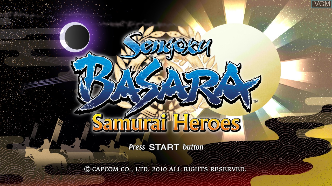 Title screen of the game Sengoku Basara - Samurai Heroes on Sony Playstation 3