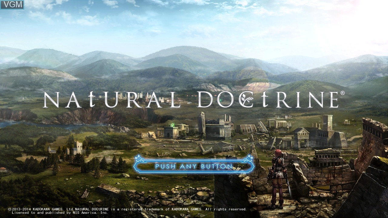 Title screen of the game Natural Doctrine on Sony Playstation 3