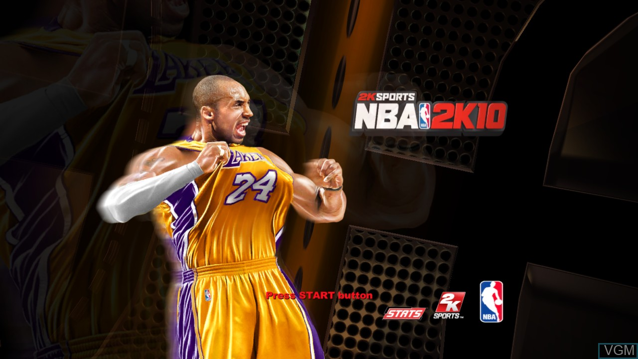 Title screen of the game NBA 2K10 on Sony Playstation 3