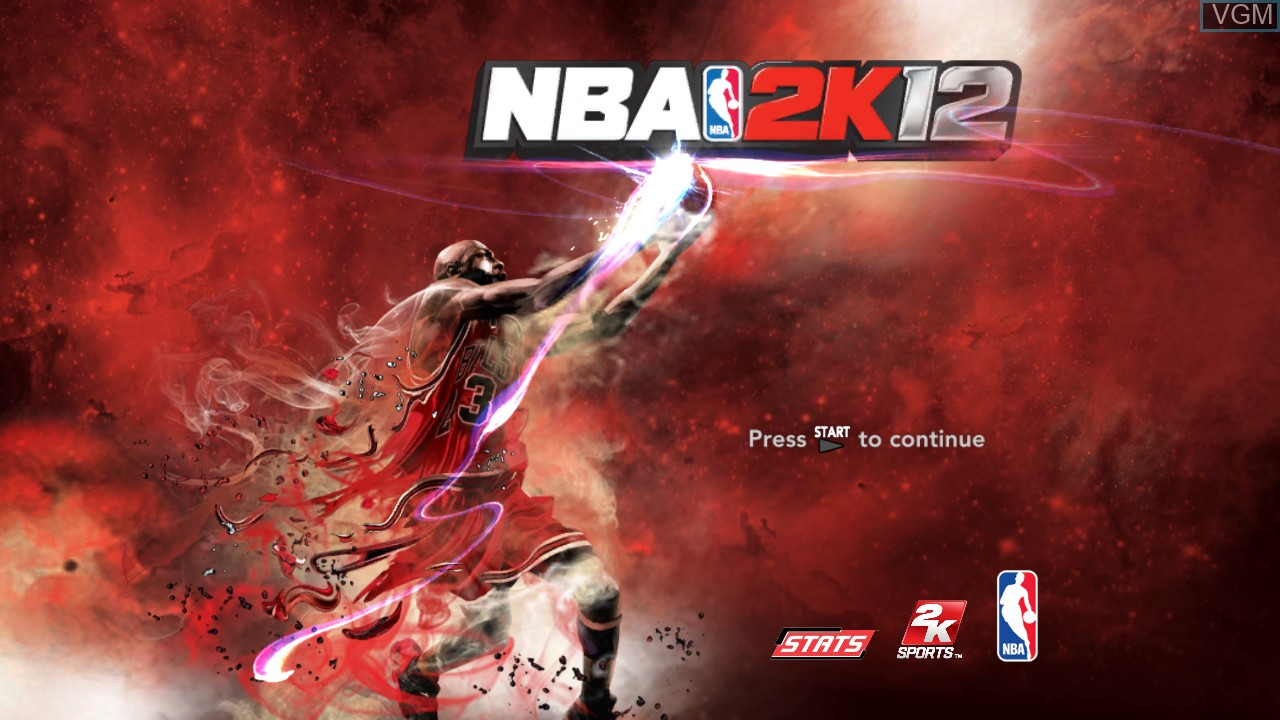 Title screen of the game NBA 2K12 on Sony Playstation 3