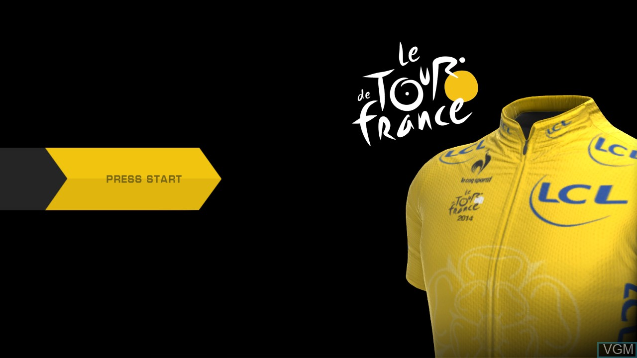 Title screen of the game Tour de France 2014, Le on Sony Playstation 3
