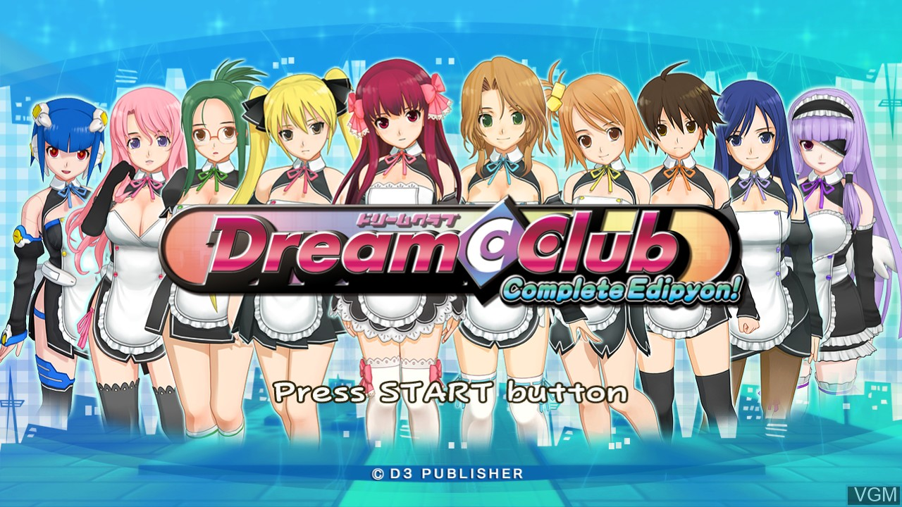 Title screen of the game Dream C Club - Complete Edipyon! on Sony Playstation 3