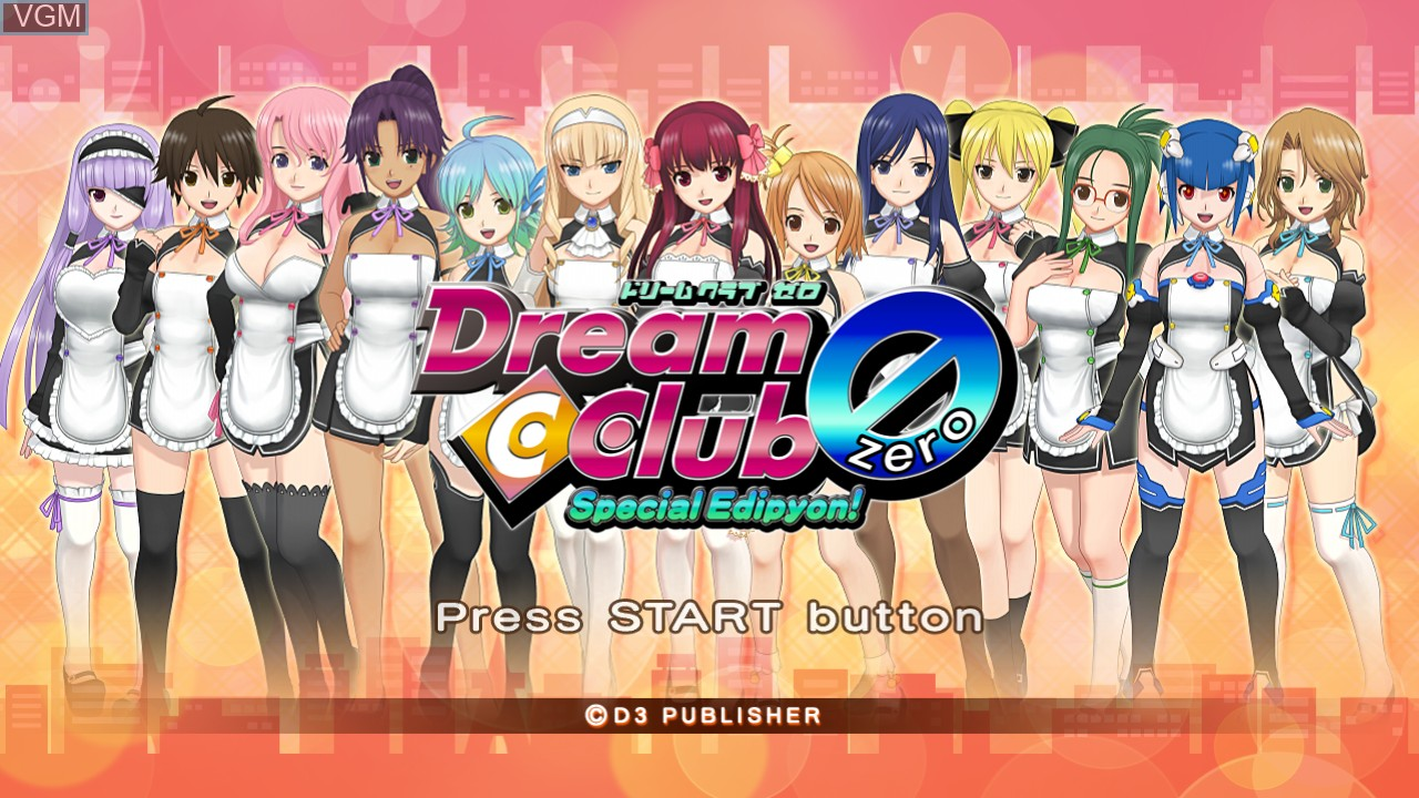 Title screen of the game Dream C Club Zero - Special Edipyon! on Sony Playstation 3