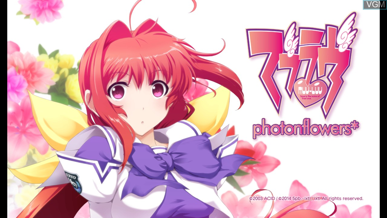 Title screen of the game Muv-Luv - photonflowers on Sony Playstation 3