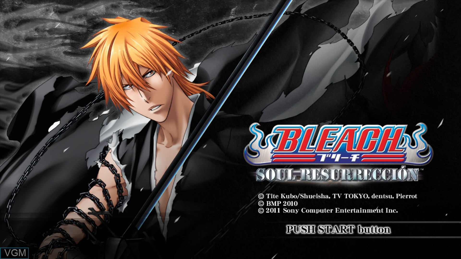 Title screen of the game Bleach - Soul Resurreccion on Sony Playstation 3