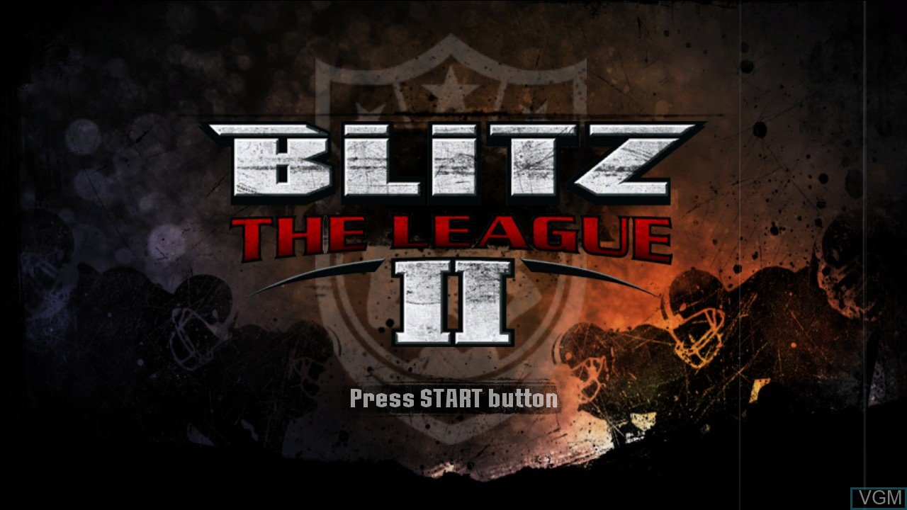 Title screen of the game Blitz - The League II on Sony Playstation 3
