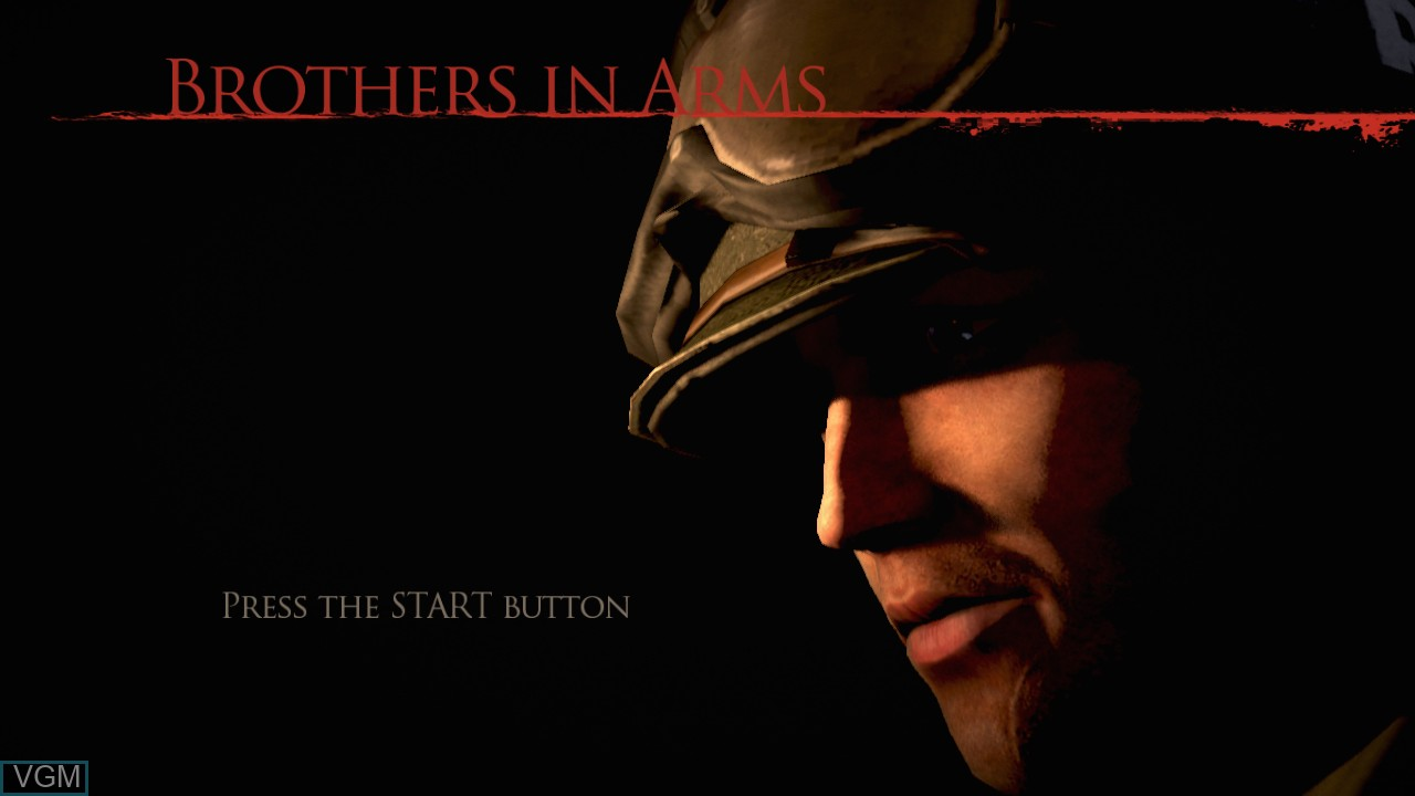 Title screen of the game Brothers in Arms - Hell's Highway on Sony Playstation 3