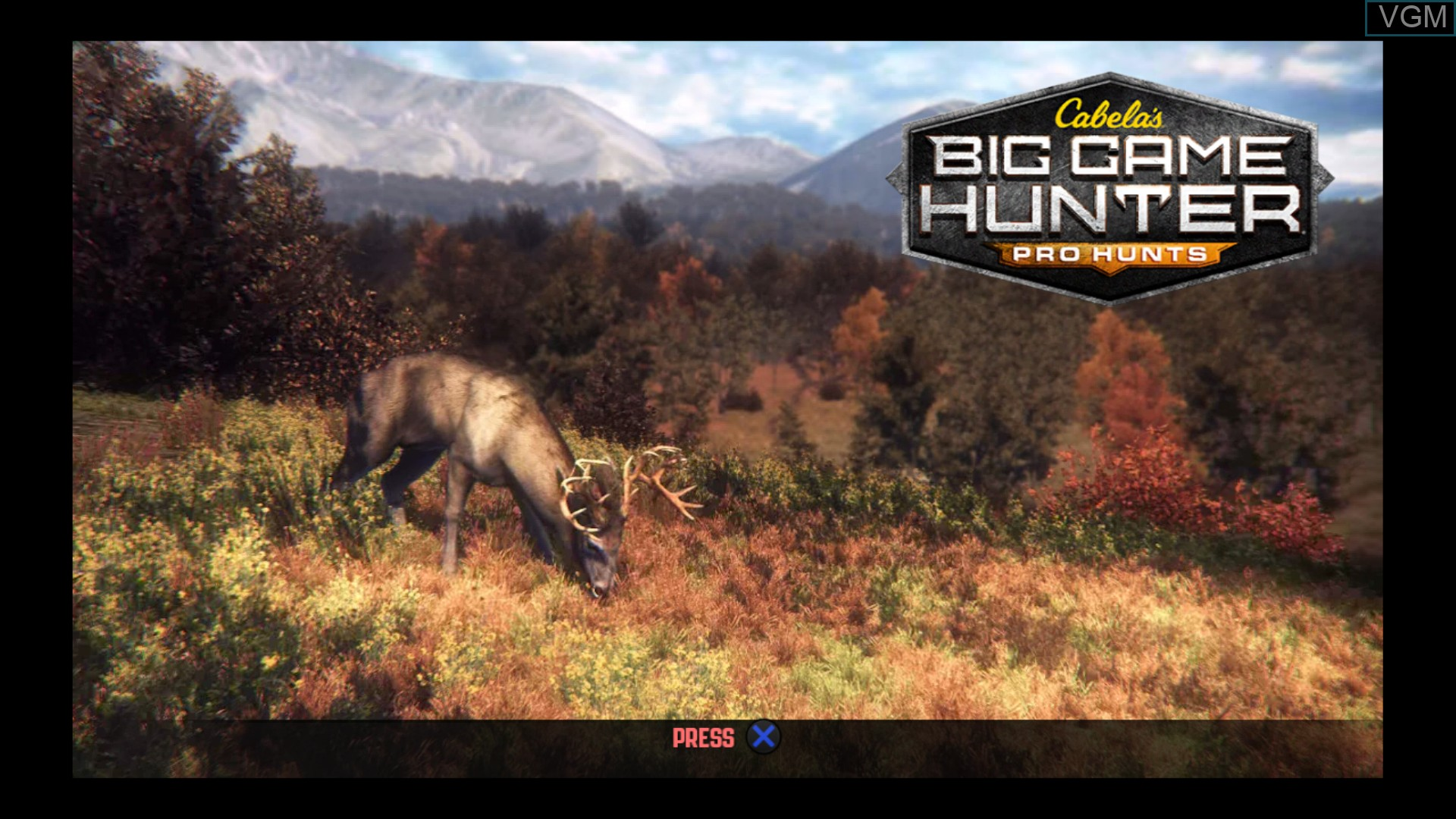 Title screen of the game Cabela's Big Game Hunter - Pro Hunts on Sony Playstation 3