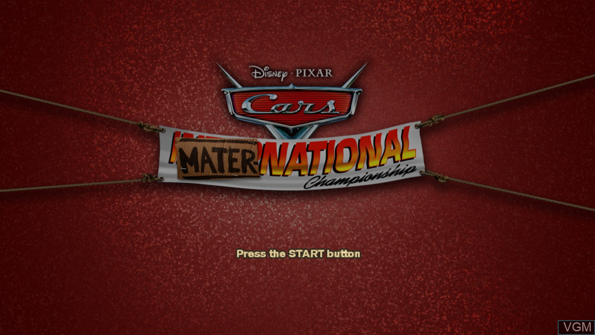 Title screen of the game Cars Mater-National Championship on Sony Playstation 3