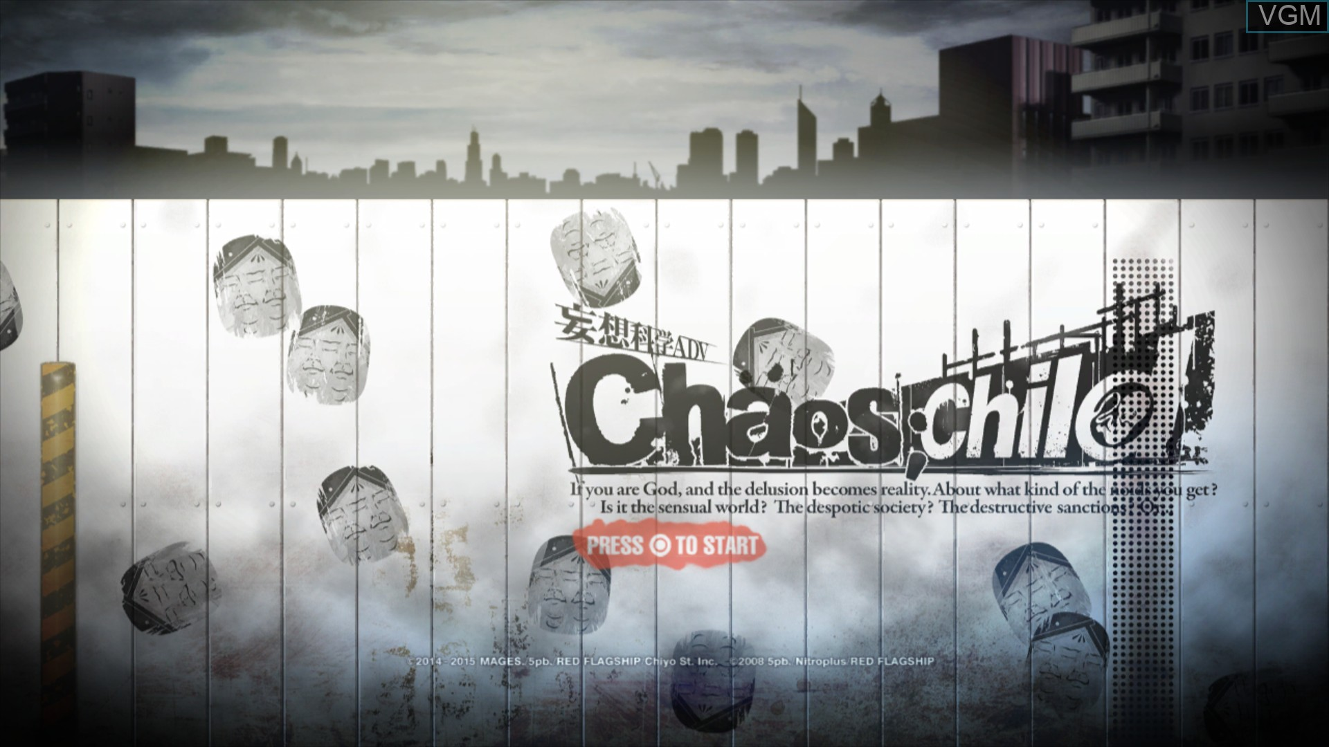Title screen of the game Chaos;Child on Sony Playstation 3