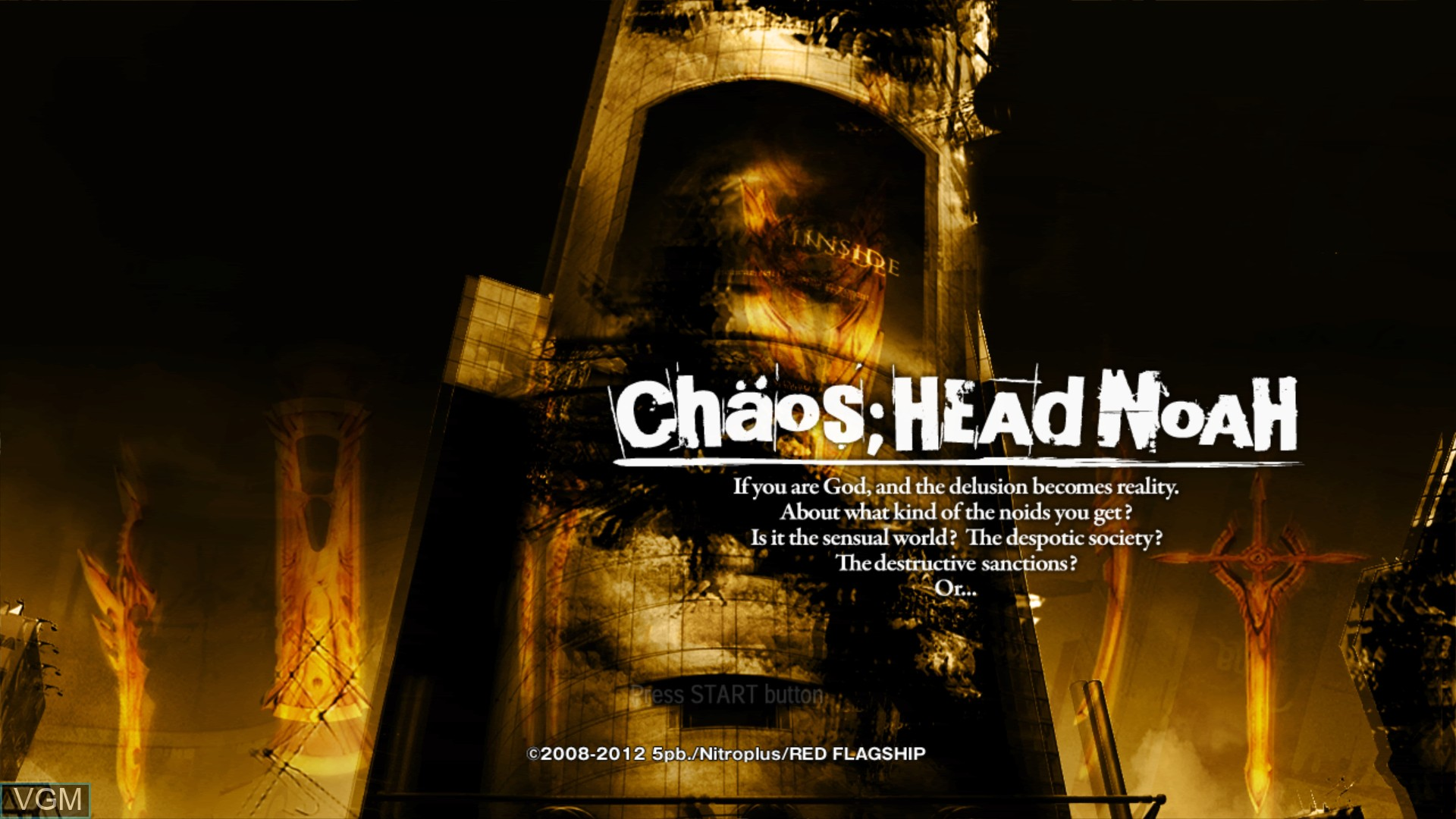 Title screen of the game Chaos;Head Noah on Sony Playstation 3