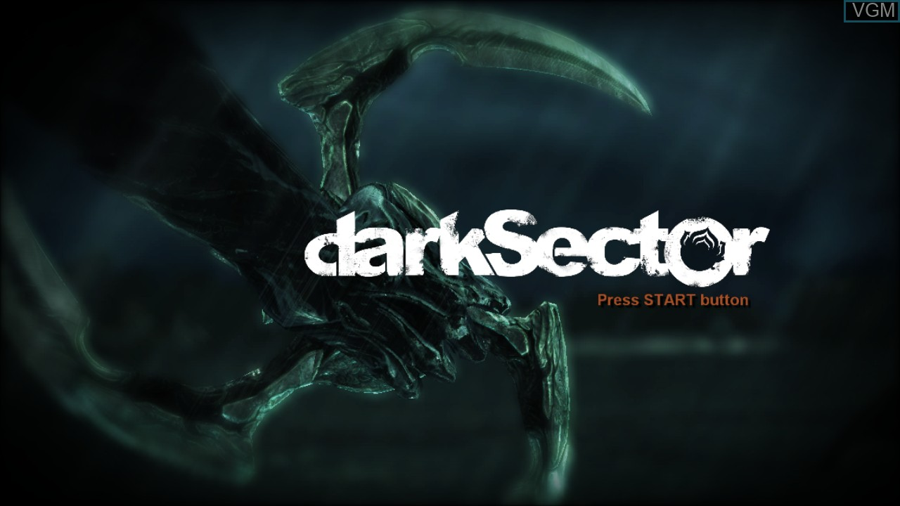 Title screen of the game Dark Sector on Sony Playstation 3