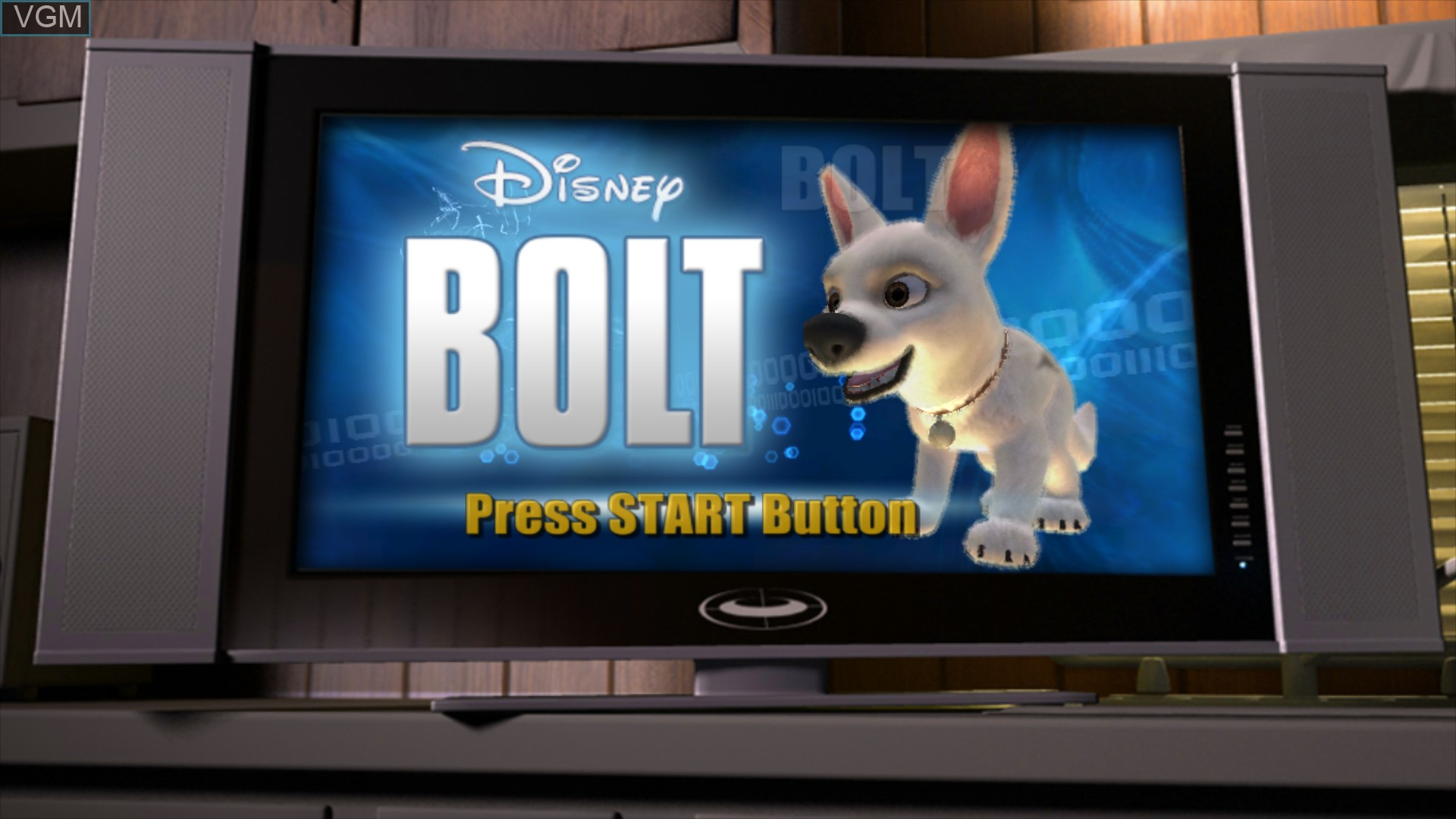 Title screen of the game Bolt on Sony Playstation 3