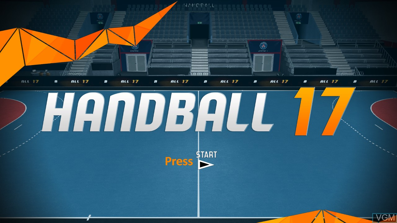 Title screen of the game Handball 17 on Sony Playstation 3