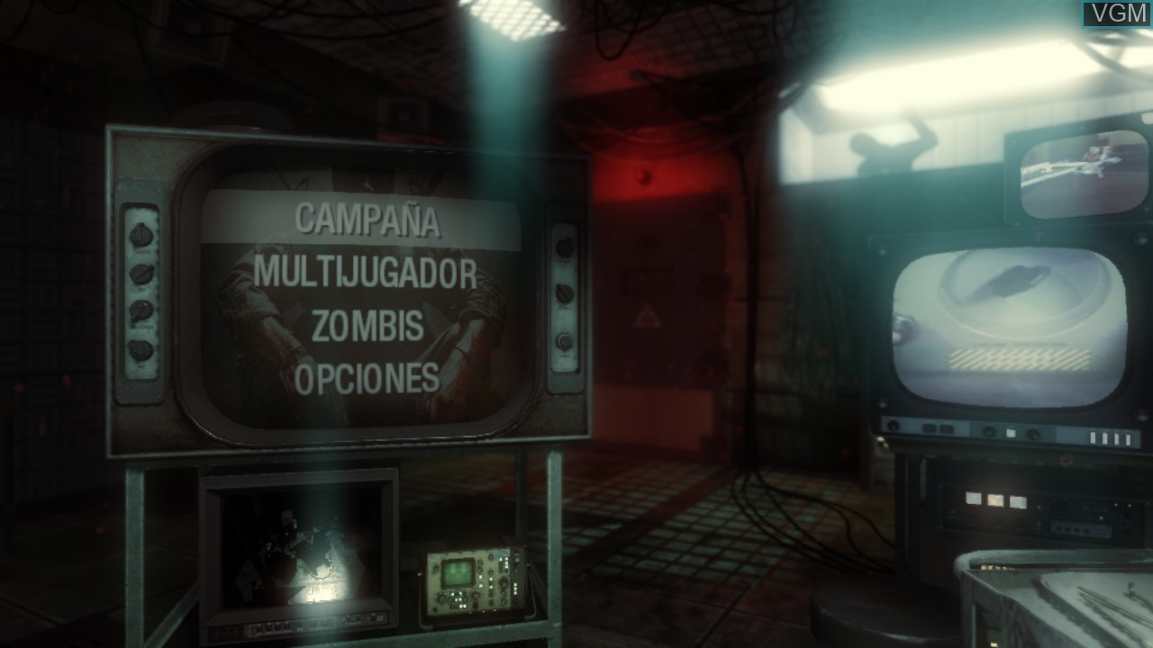 Menu screen of the game Call of Duty - Black Ops on Sony Playstation 3