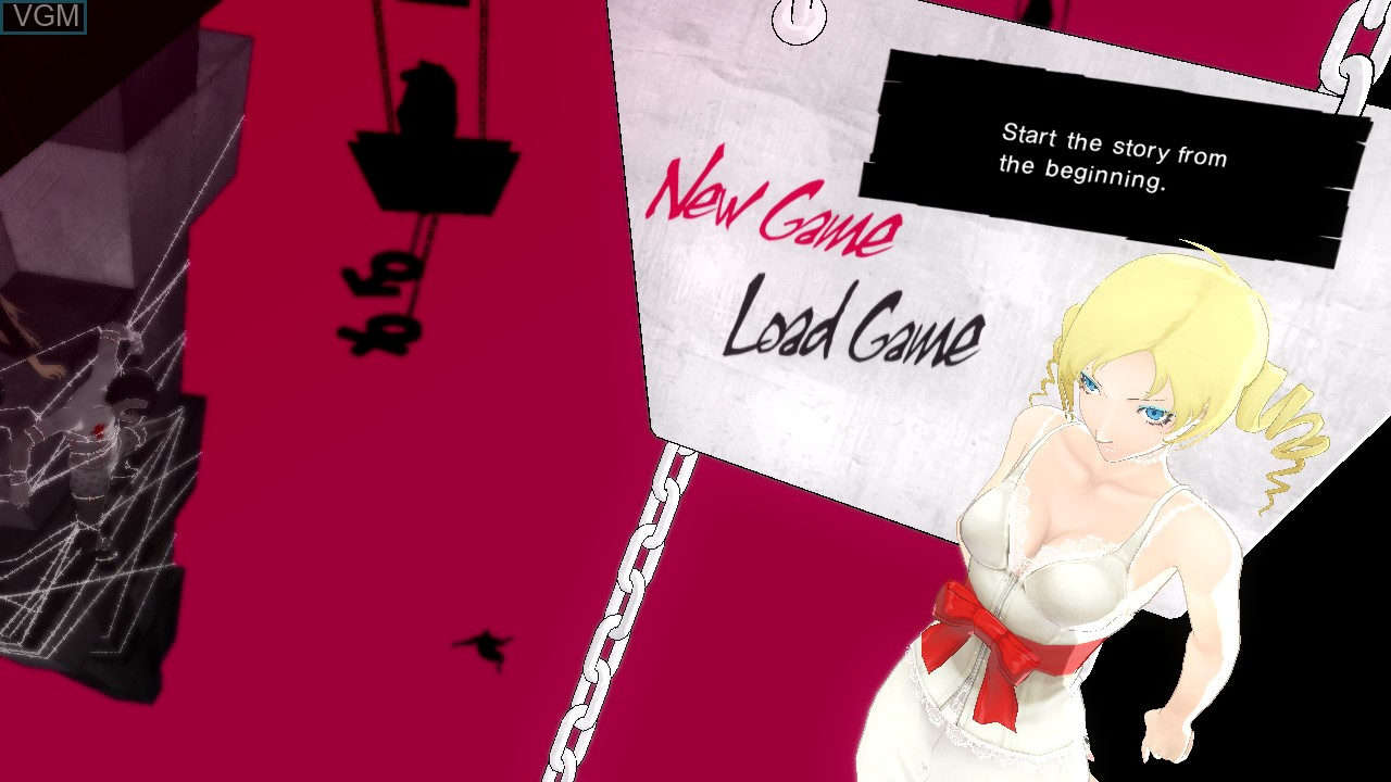 Menu screen of the game Catherine on Sony Playstation 3