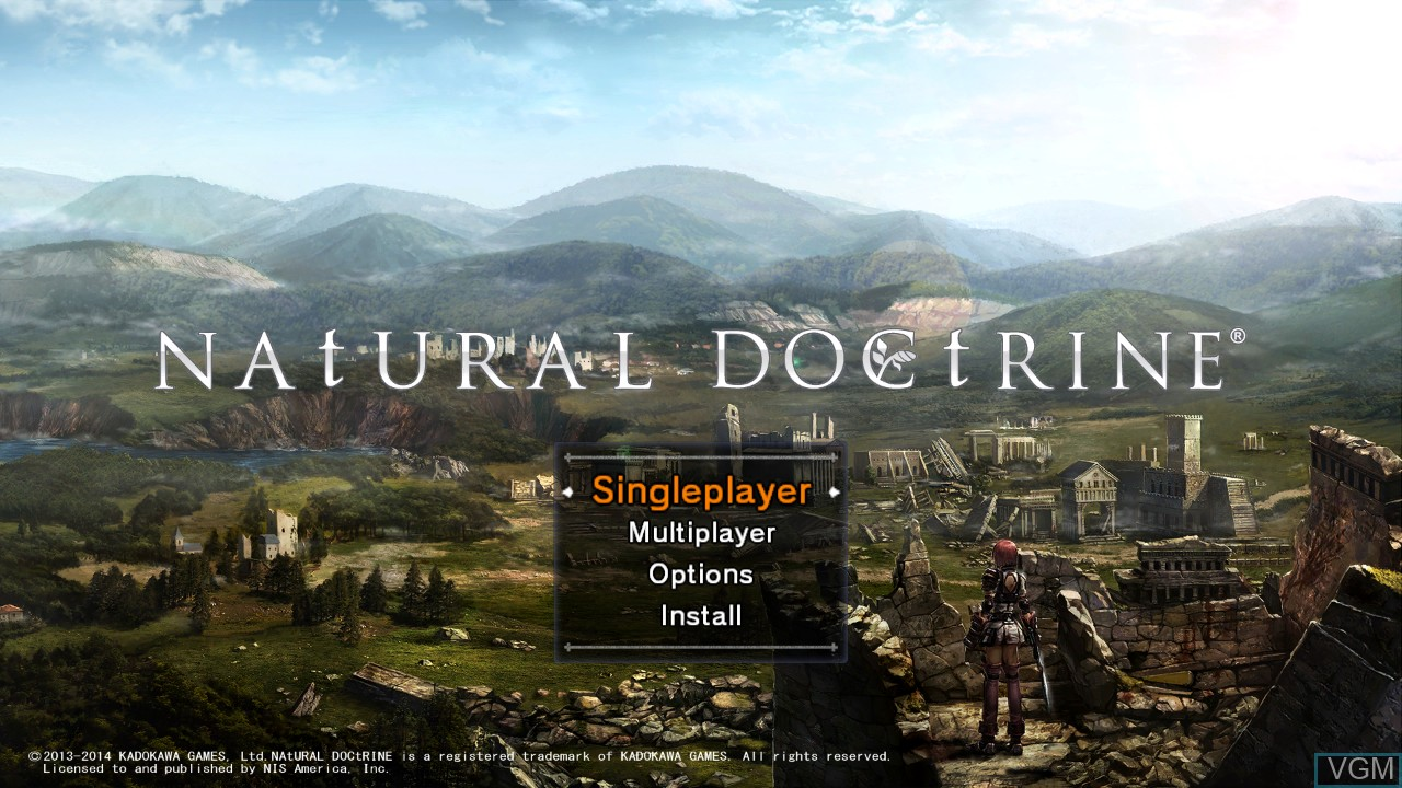 Menu screen of the game Natural Doctrine on Sony Playstation 3