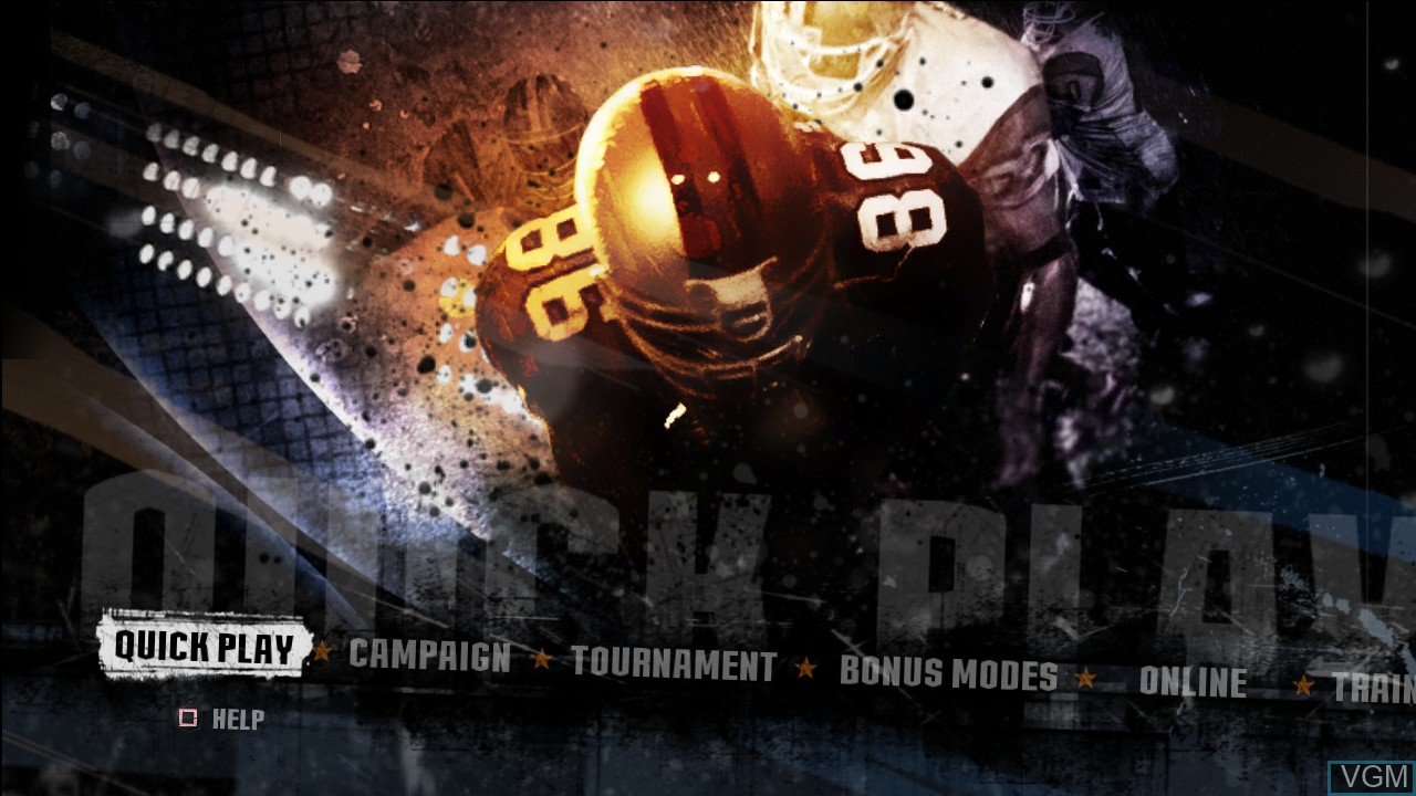 Menu screen of the game Blitz - The League II on Sony Playstation 3