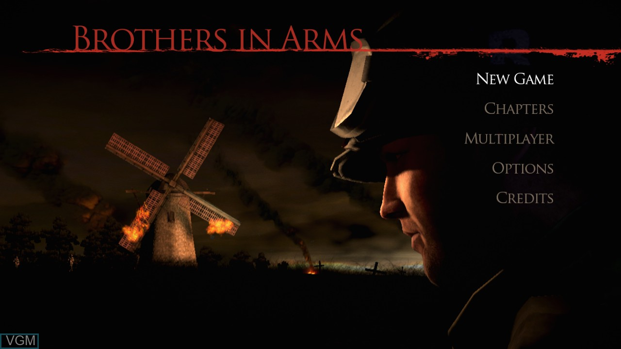 Menu screen of the game Brothers in Arms - Hell's Highway on Sony Playstation 3