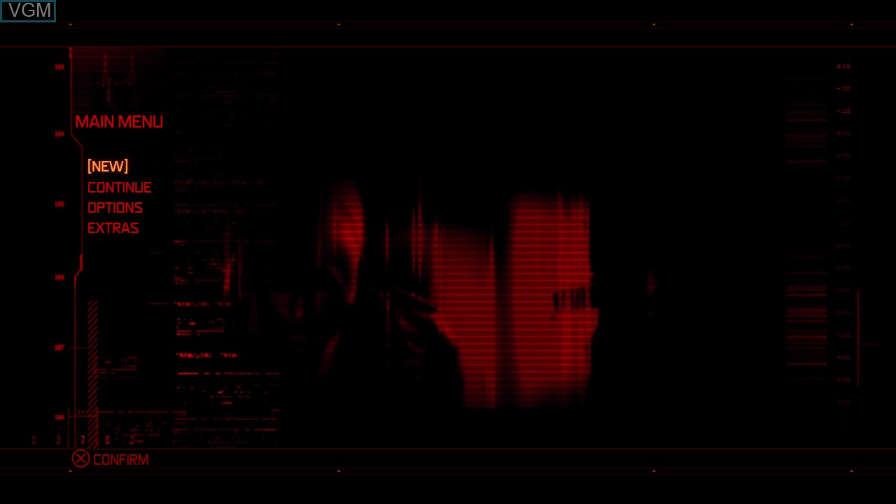 Menu screen of the game Prototype on Sony Playstation 3