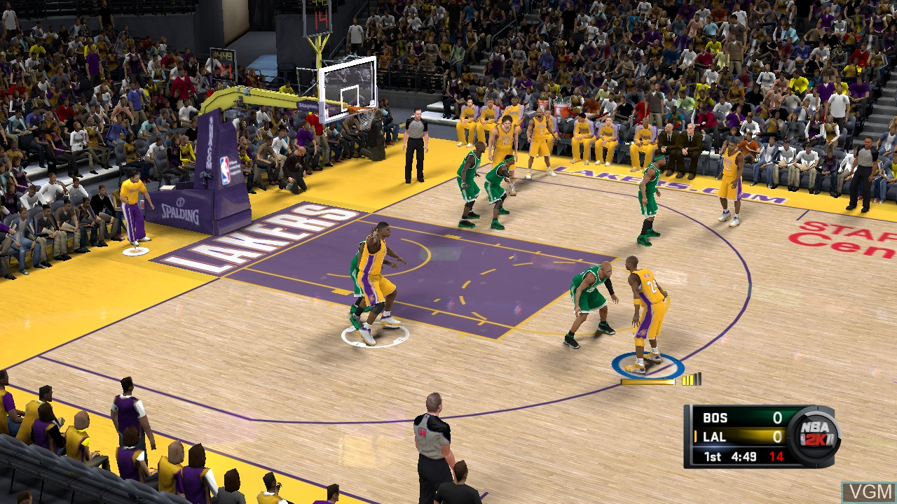 In-game screen of the game NBA 2K11 on Sony Playstation 3