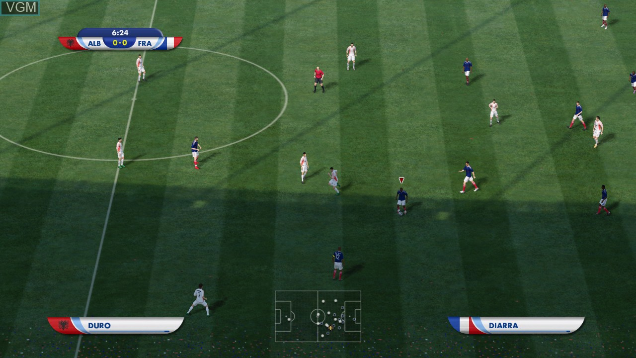 In-game screen of the game 2010 FIFA World Cup South Africa on Sony Playstation 3