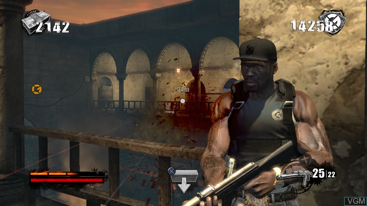 In-game screen of the game 50 Cent - Blood on the Sand on Sony Playstation 3