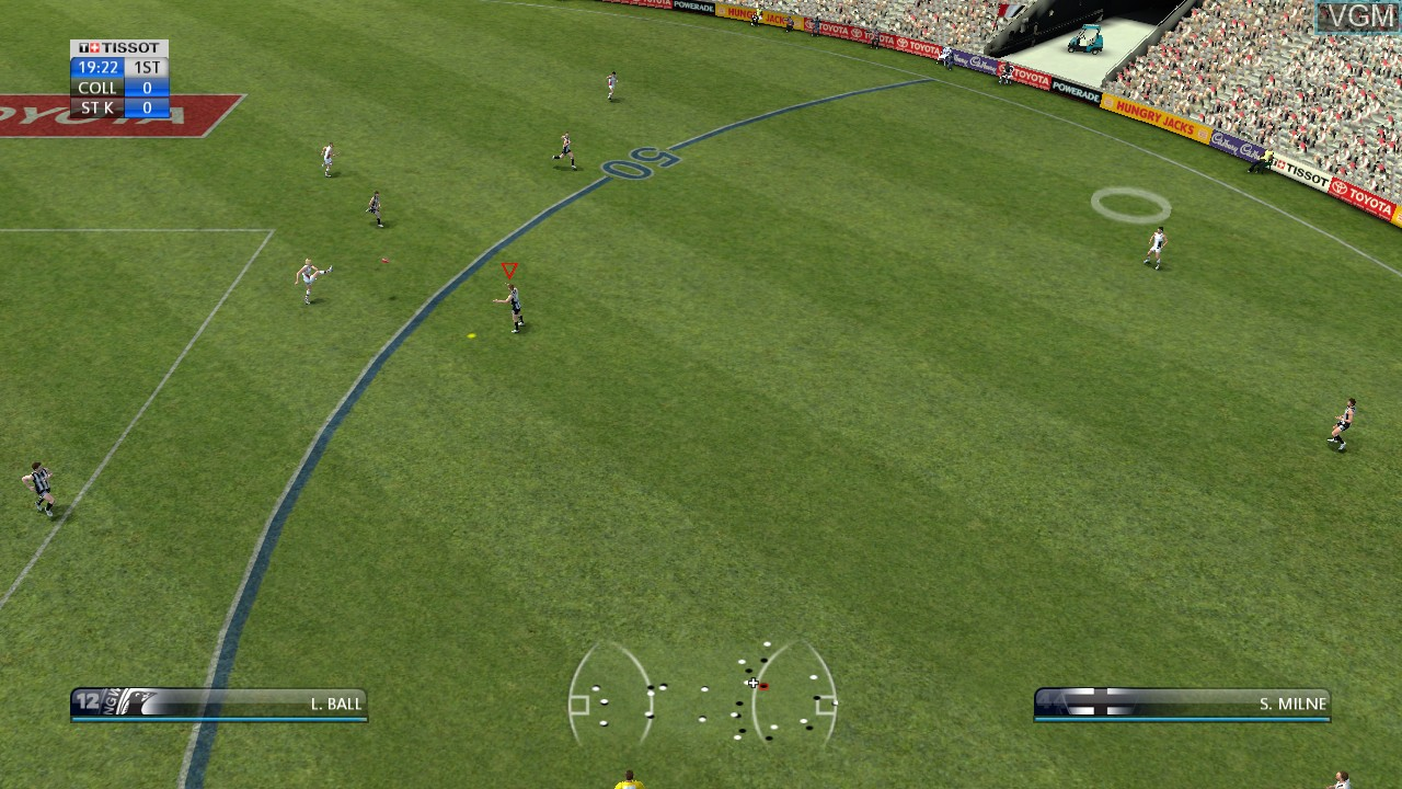 In-game screen of the game AFL Live on Sony Playstation 3
