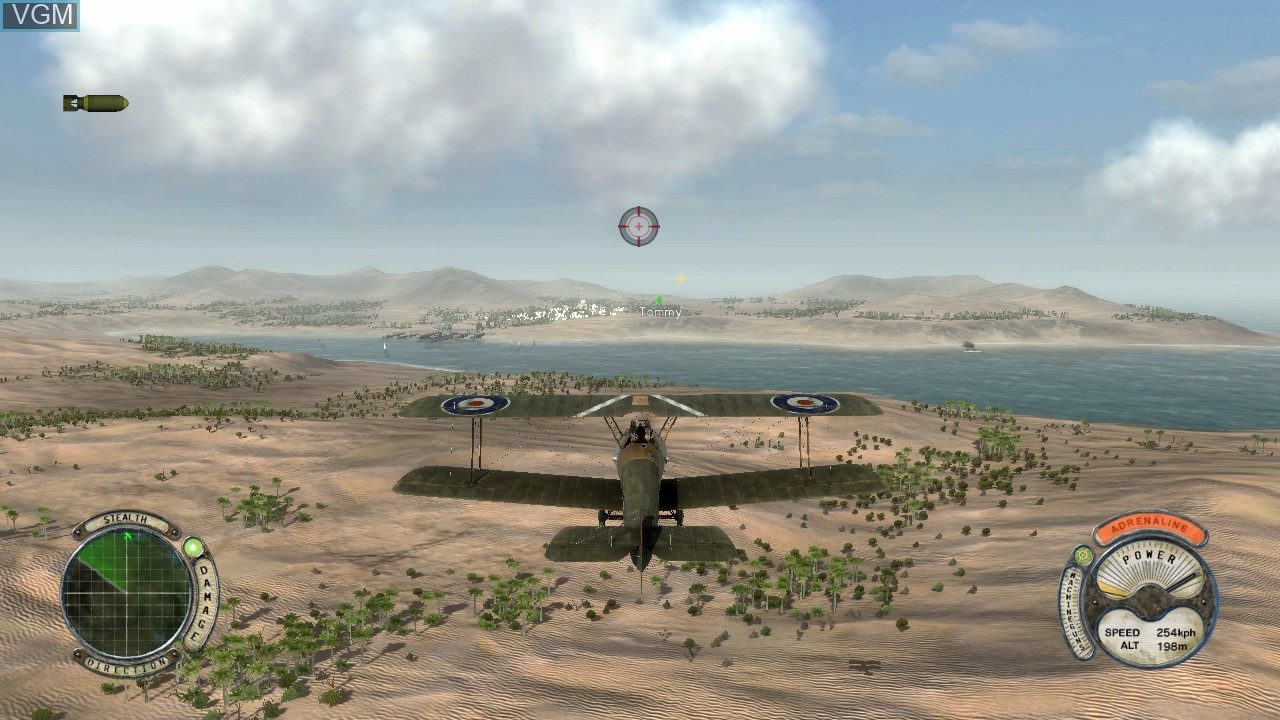 In-game screen of the game Air Conflicts - Secret Wars on Sony Playstation 3