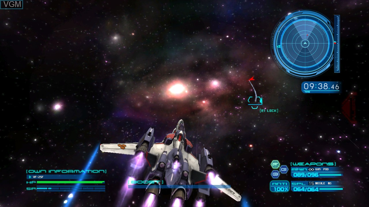 In-game screen of the game Macross Trial Frontier on Sony Playstation 3