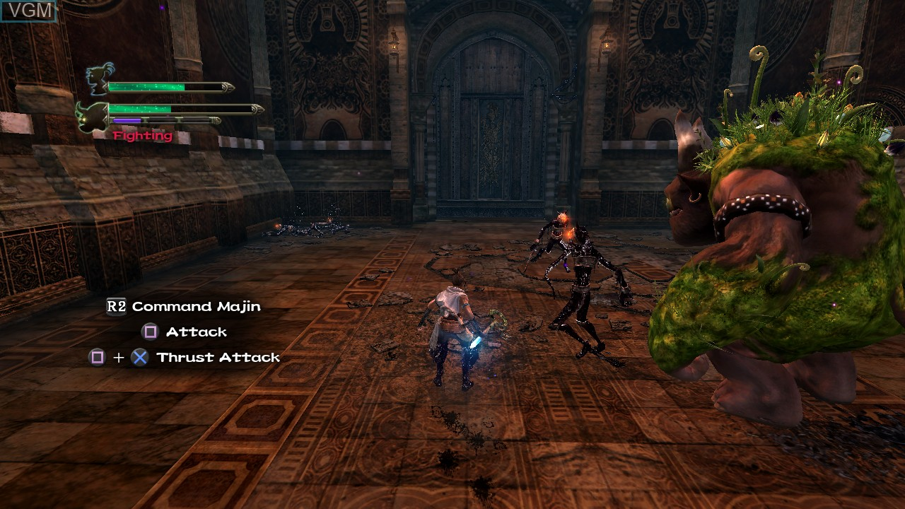 In-game screen of the game Majin and the Forsaken Kingdom on Sony Playstation 3