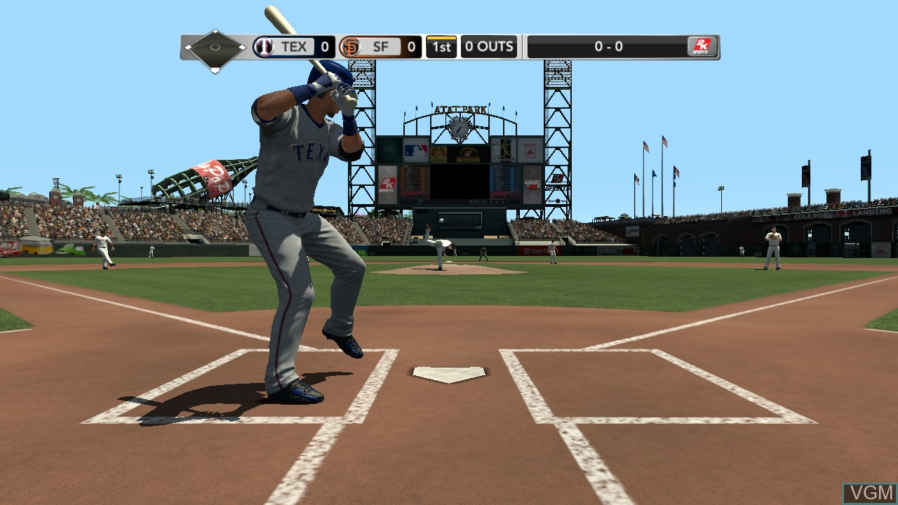 In-game screen of the game Major League Baseball 2K11 on Sony Playstation 3