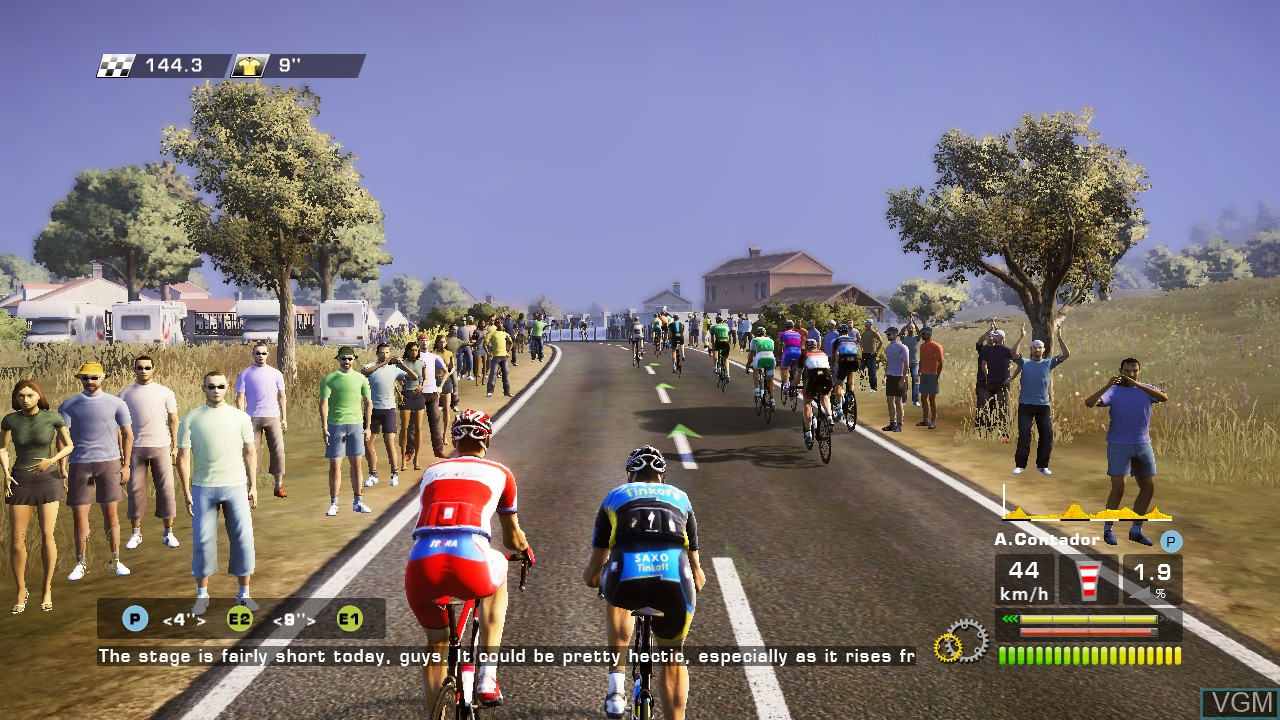 In-game screen of the game Tour de France 2013, Le - 100th Edition on Sony Playstation 3