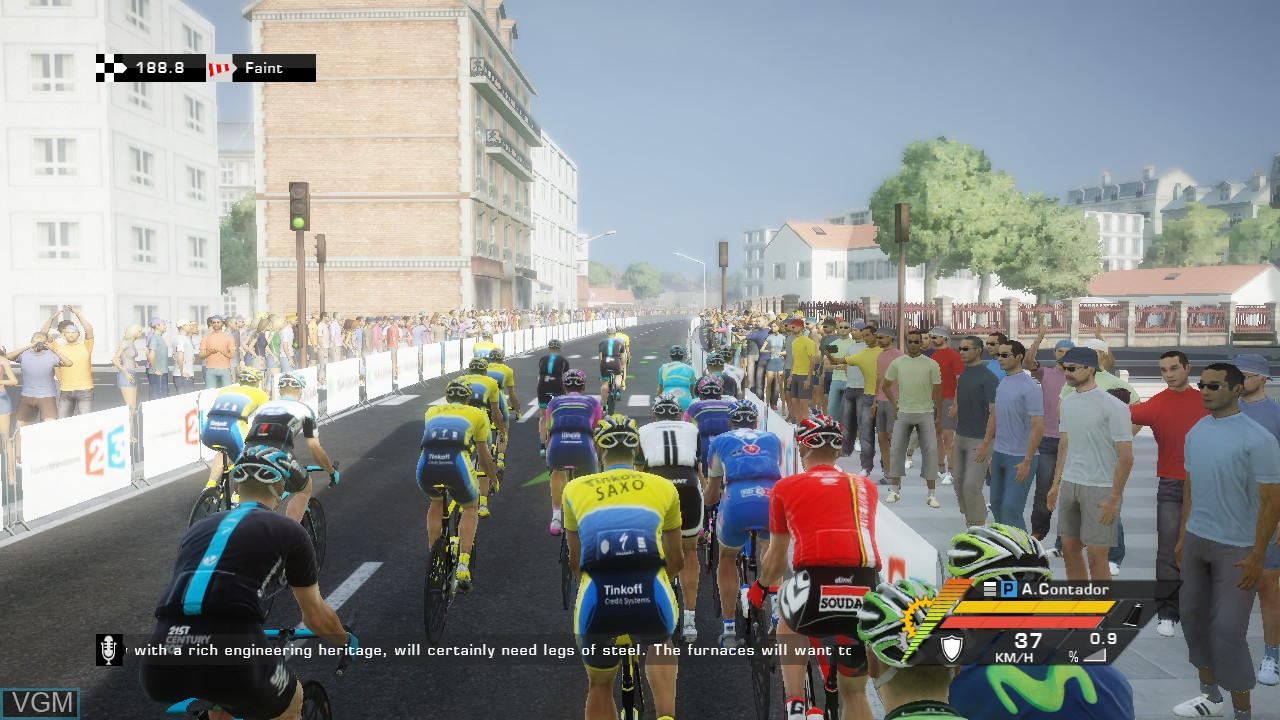 In-game screen of the game Tour de France 2014, Le on Sony Playstation 3