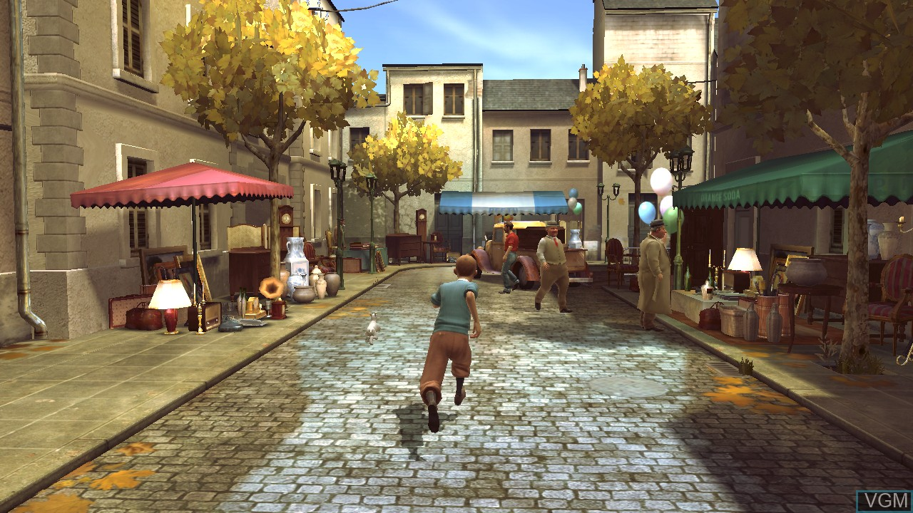 In-game screen of the game Adventures of Tintin, The - The Secret of the Unicorn on Sony Playstation 3