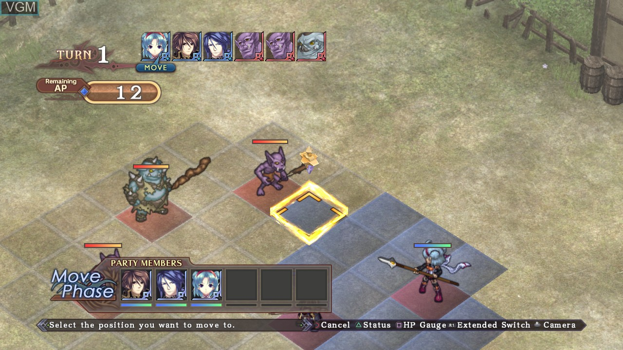 In-game screen of the game Agarest - Generations of War Zero on Sony Playstation 3