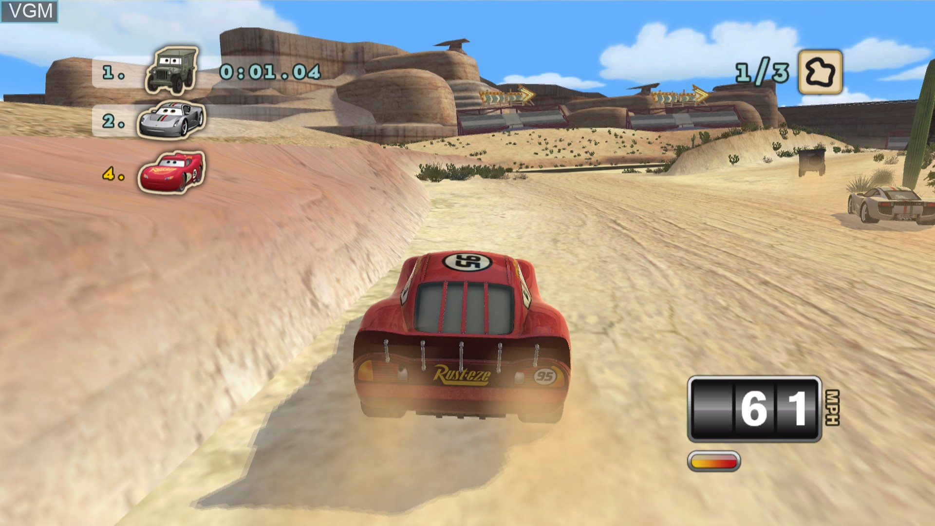 In-game screen of the game Cars Mater-National Championship on Sony Playstation 3