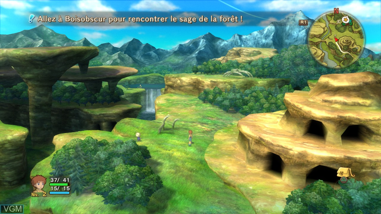 In-game screen of the game Ni no Kuni - Wrath of the White Witch on Sony Playstation 3