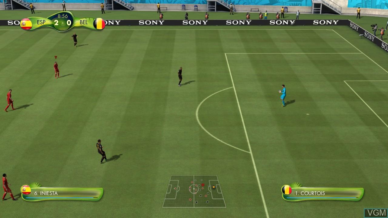 In-game screen of the game 2014 FIFA World Cup Brazil on Sony Playstation 3